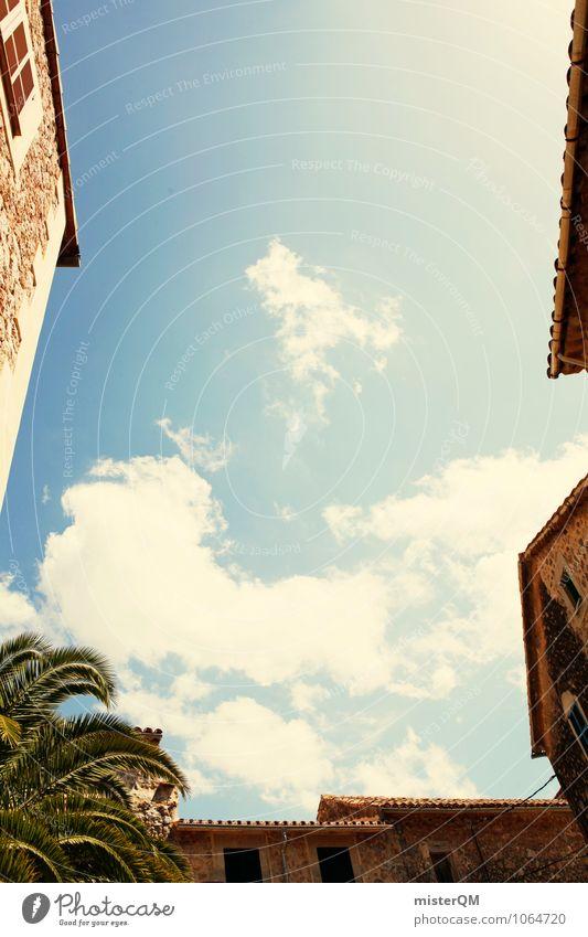 Urlaubshimmel. Kunst ästhetisch Himmel (Jenseits) himmelblau himmlisch himmelwärts himmelan Blauer Himmel Wolken mediterran Ferien & Urlaub & Reisen