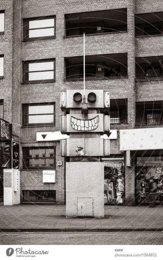 Der Lacher ist auf deiner Seite Freude Gesicht Technik & Technologie Kunst Kultur Jugendkultur Stadt Gebäude Architektur Fassade Verkehr Straße Roboter lachen