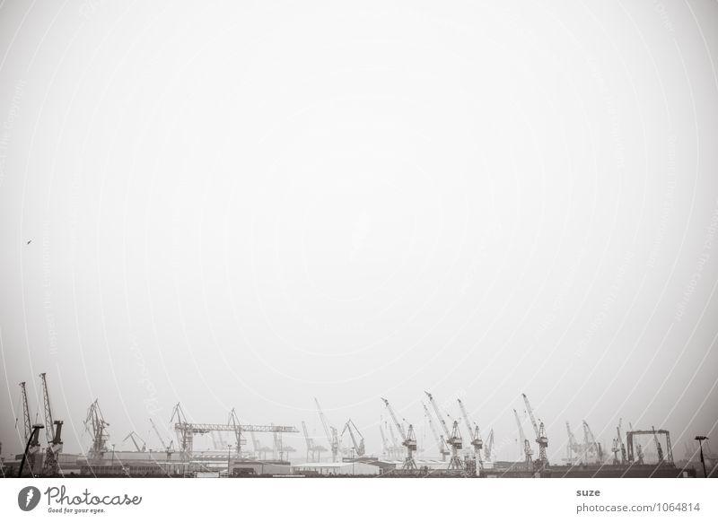 Hafenkante Umwelt grau Kunst Deutschland Arbeit & Erwerbstätigkeit Business fantastisch Industrie Hamburg Güterverkehr & Logistik Industriefotografie