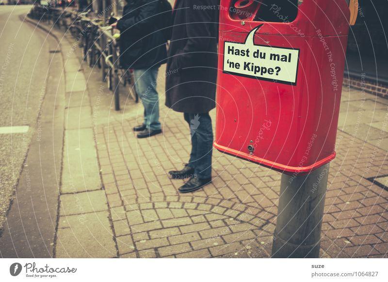 Nur 'ne Frage ... Dienstleistungsgewerbe Medienbranche Werbebranche Umwelt Stadt Platz Zeichen Schriftzeichen Schilder & Markierungen Hinweisschild Warnschild