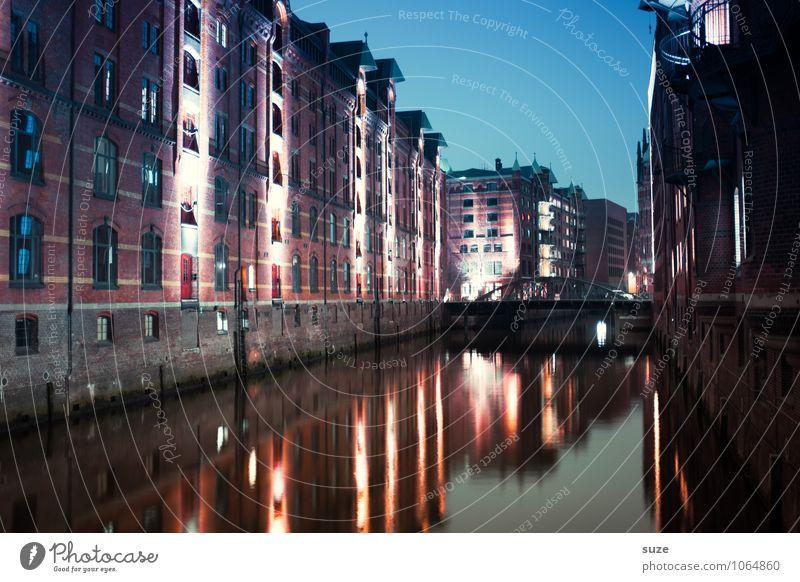 Speicher fast voll Haus Wirtschaft Industrie Kunst Kunstwerk Gemälde Wasser Himmel Fluss Hafenstadt Bauwerk Gebäude Architektur Fassade Sehenswürdigkeit