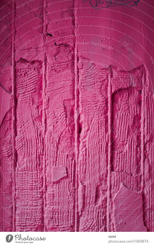 Hausfrauenart alt Erotik Wand Farbstoff Gefühle feminin Stil Mauer Hintergrundbild Linie Stimmung rosa Lifestyle Fassade Design verrückt