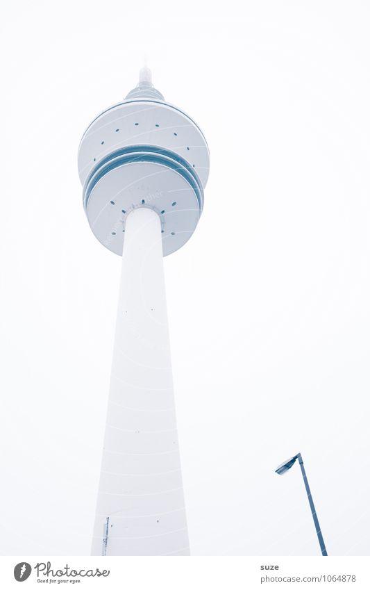 Telemichel mit Personal kalt Architektur Gebäude außergewöhnlich Kunst hell Deutschland Perspektive hoch Aussicht Zukunft einzigartig Industrie Kultur Turm