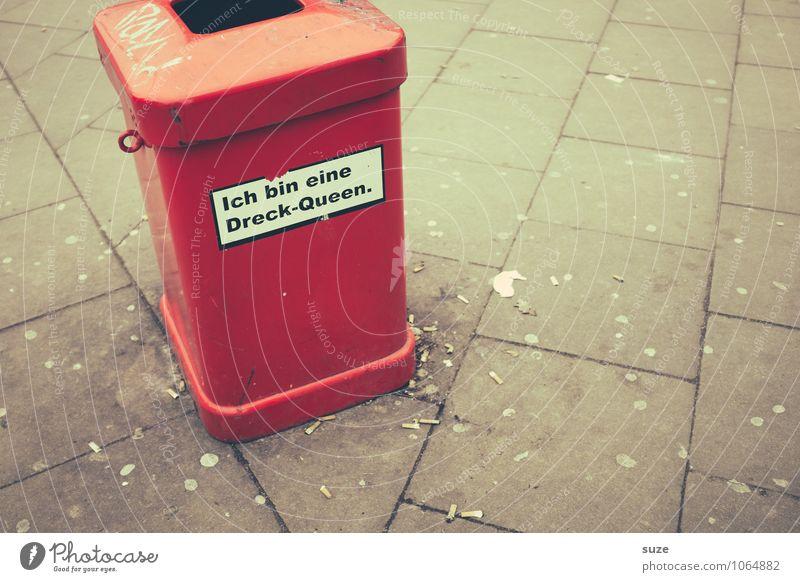 *3.200* Tollaranz Stadt rot Freude Umwelt lustig Deutschland Stadtleben dreckig Schilder & Markierungen authentisch verrückt Schriftzeichen Kreativität Platz