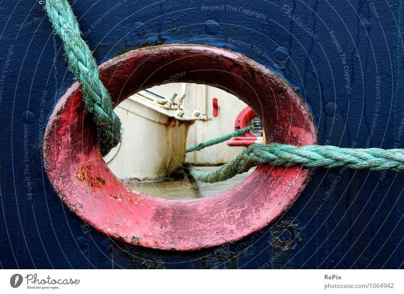 Schiff abstrakt Ferien & Urlaub & Reisen Meer Wasserfahrzeug Arbeit & Erwerbstätigkeit Business Verkehr Technik & Technologie Ausflug planen Sicherheit