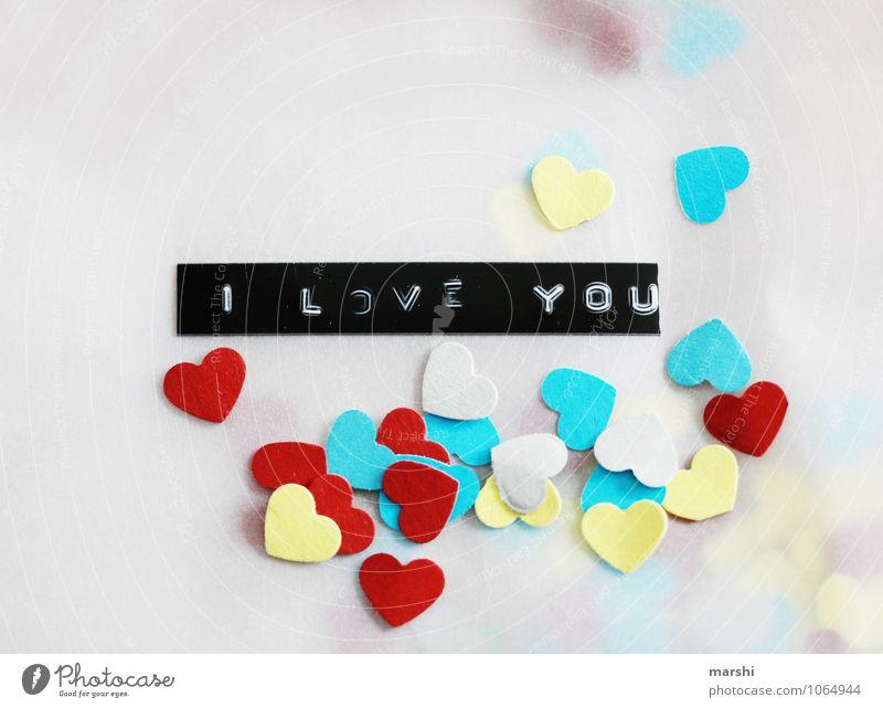 Liebesgruß Zeichen Schriftzeichen Ziffern & Zahlen Gefühle Stimmung mehrfarbig Herz herzlich Valentinstag Verliebtheit Liebespaar Dekoration & Verzierung
