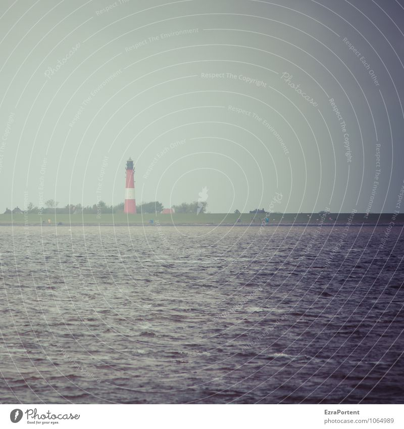 Hallig Himmel Natur Ferien & Urlaub & Reisen Wasser Erholung Meer rot Landschaft ruhig Ferne Umwelt Küste grau Freiheit Luft Wetter