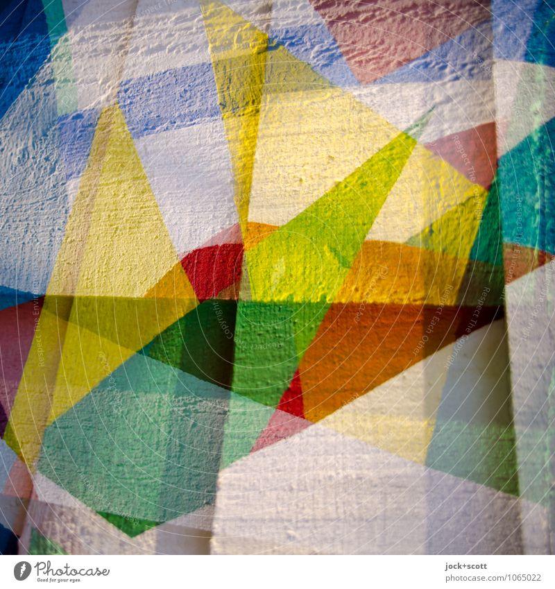 Skala Stil Design Straßenkunst Dekoration & Verzierung Holzbrett Farbstoff Geometrie ästhetisch eckig fest trendy schön einzigartig viele Stimmung Vorfreude