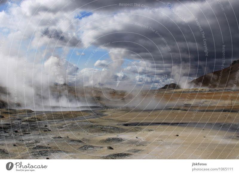 ISLAND / Námafjall [2] Umwelt Natur Landschaft Urelemente Erde Sand Feuer Wolken Sommer Klima Schönes Wetter Nebel Wärme Felsen Vulkan heiß Namafjall
