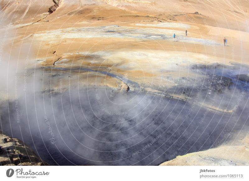 ISLAND / Námafjall [3] Umwelt Natur Landschaft Urelemente Feuer Wasser Wolken Sonne Nebel Hügel Felsen Vulkan heiß Namafjall Island hot pots Geothermik