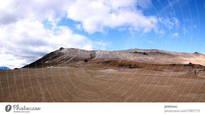 ISLAND / Námafjall [4] Umwelt Natur Landschaft Urelemente Sand Feuer Himmel Wolken Klima Schönes Wetter Wärme Hügel Berge u. Gebirge Vulkan heiß Tourismus