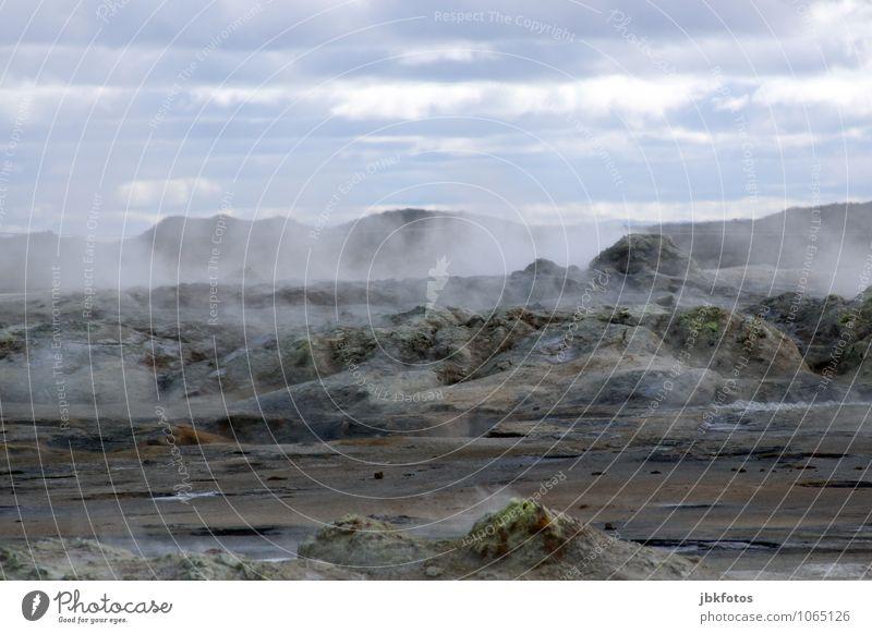 ISLAND / Námafjall [9] Himmel Natur Pflanze Wasser Landschaft Wolken Umwelt Berge u. Gebirge Wärme Sand Felsen Luft Erde Klima Urelemente Feuer