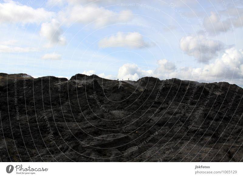 Neulich, kurz mal auf dem Mond gewesen / 170 Mensch Natur Landschaft Umwelt Berge u. Gebirge Wärme Sand Erde Urelemente Feuer heiß Schlucht Vulkan Kraterrand