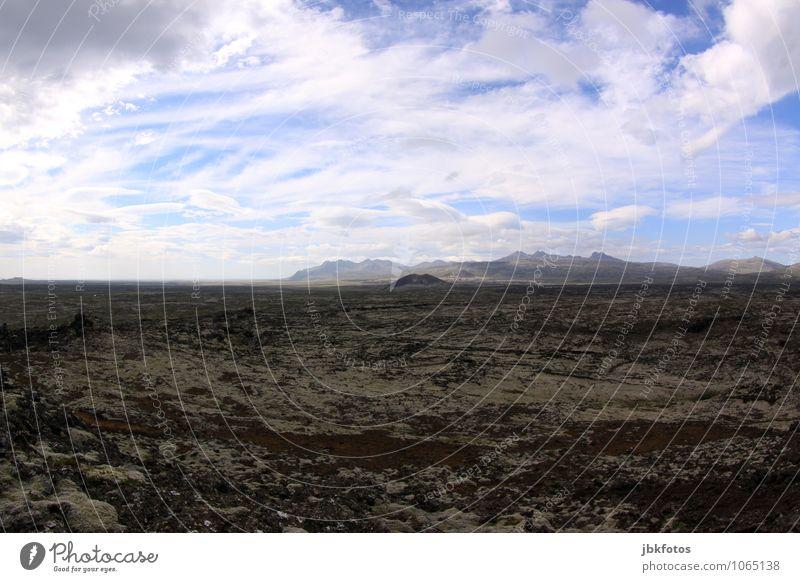 Lavawüste Umwelt Natur Landschaft Urelemente Erde Sand Feuer Wolken Schönes Wetter Wärme Dürre gigantisch natürlich Originalität braun grau Island vulkanisch