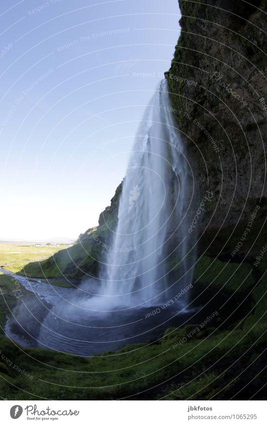 ISLAND / Seljalandsfoss Umwelt Natur Landschaft Pflanze Urelemente Wasser Nebel Felsen Berge u. Gebirge Schlucht Küste Flussufer Meer Atlantik Wasserfall