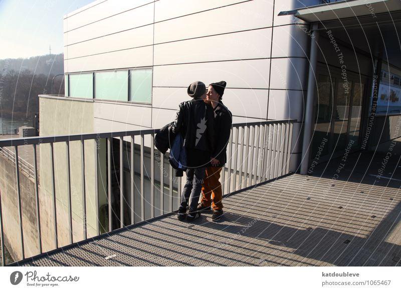 kill me again with love ruhig Ferne Freiheit Sonne feminin androgyn Homosexualität Freundschaft Paar Partner 2 Mensch Gebäude Architektur entdecken genießen