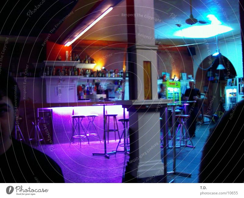 Bar Farbe Club Theke