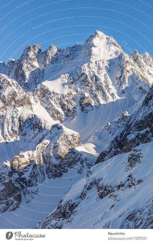Felsmassiv lll Ferien & Urlaub & Reisen Tourismus Abenteuer Freiheit Winterurlaub Berge u. Gebirge Natur Landschaft Sonnenlicht Klima Schönes Wetter Eis Frost