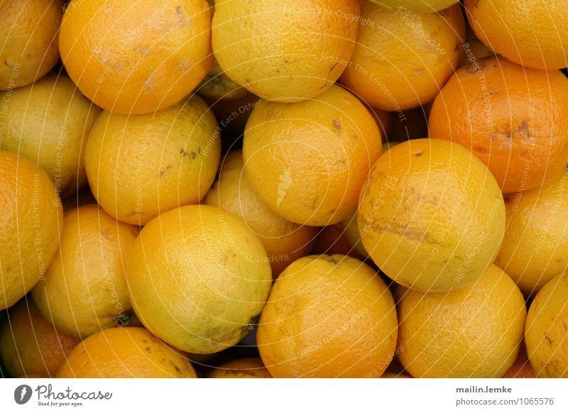 Orangen gelb Gesundheit orange Frucht Orange frisch groß rund saftig