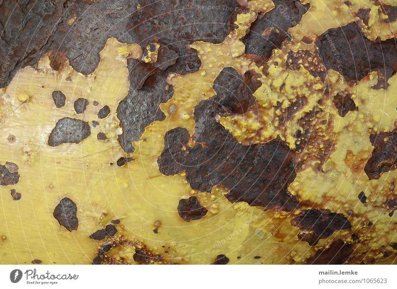 Rust alt schwarz gelb braun Metall authentisch
