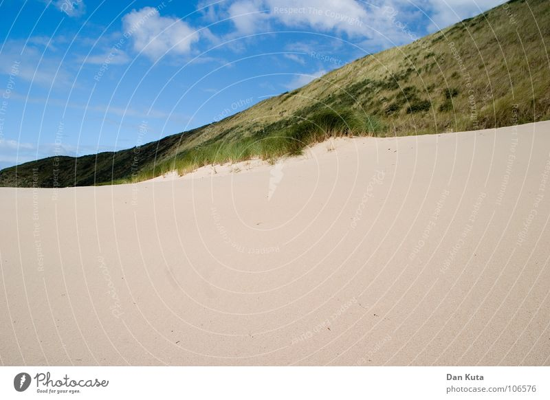 Ungerecht geteilt! Himmel Meer blau Strand Wolken kalt Freiheit Sand Linie Küste Wind Horizont mehrere offen Niveau weich