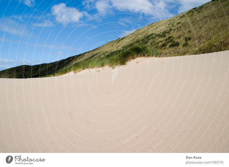 Ungerecht geteilt! Wolken Lamm mehrere Einigkeit traumhaft Meer Niederlande Zeeland offen kalt Brise weich beweglich Horizont flach Lineal Geometrie horizontal