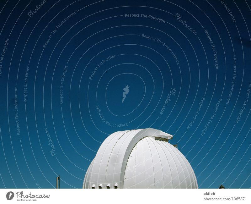 Sie leben Himmel weiß blau Metall Wetter Technik & Technologie Bildung Teleskop Observatorium
