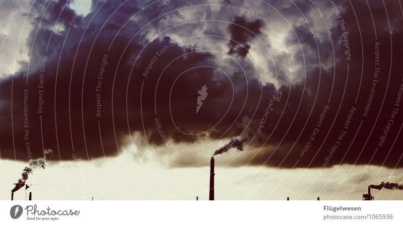 Wandel Klimawandel Kohle Stromkraftwerke Heizkraftwerk Rauch Abgas Schornstein Kohlebergwerk Energie Energiewirtschaft Kohlekraftwerk vergiftet Wolken Skandal