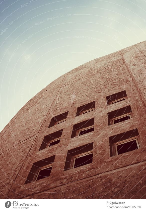 Kunst Fenster Israel Totes Meer Fensterscheibe Hausbau Mauer Stein Beton Himmel Aussicht