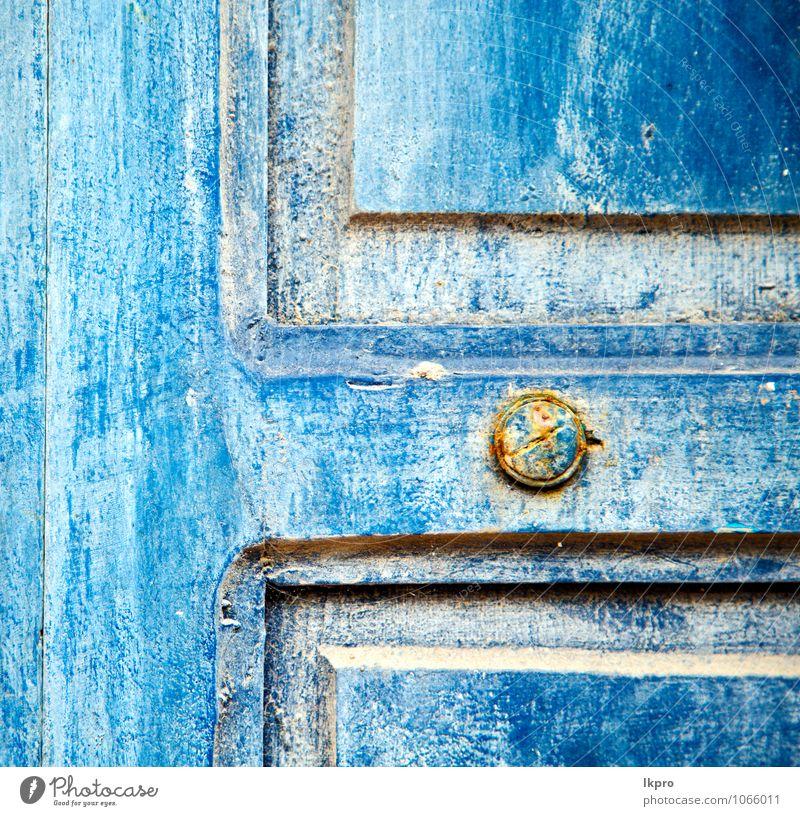 Ferien & Urlaub & Reisen Stadt alt blau Haus gelb Wand Architektur Mauer Holz Kunst Metall Fassade dreckig Dekoration & Verzierung Tür