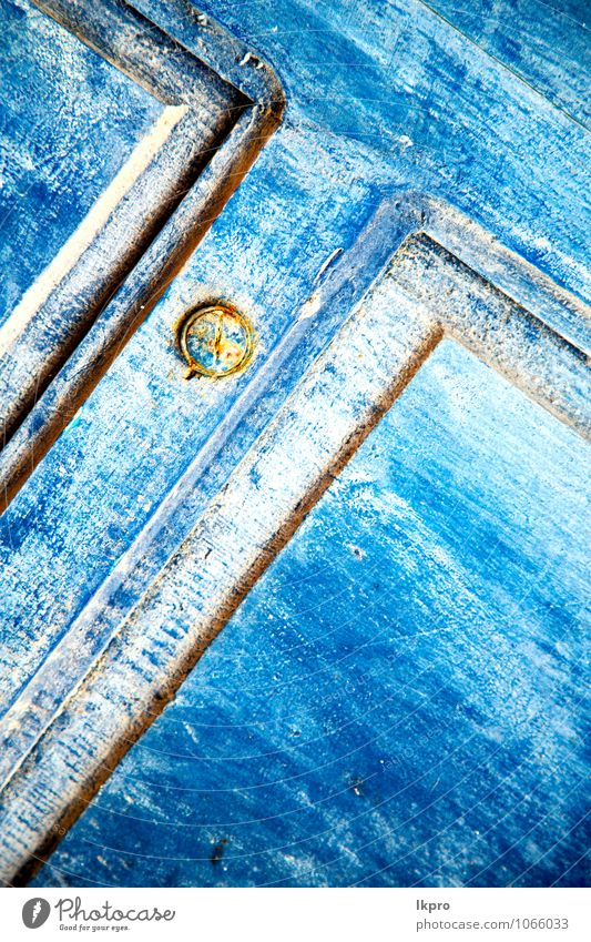 Ferien & Urlaub & Reisen Stadt alt blau weiß Haus Wand Architektur Gefühle Mauer grau Holz Kunst Metall Fassade dreckig