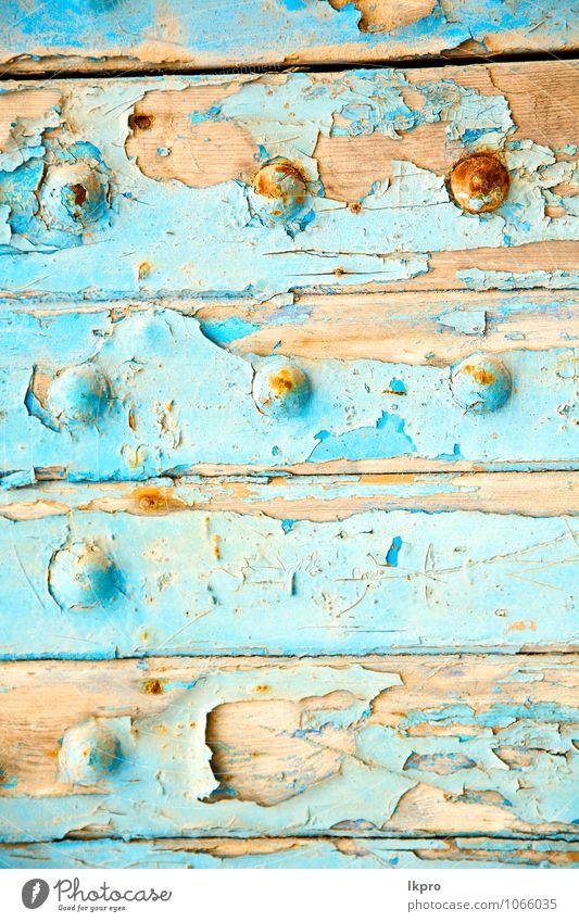 Stadt alt blau schön Haus gelb Wand Architektur Gefühle Mauer Holz Sand Kunst Metall Fassade dreckig