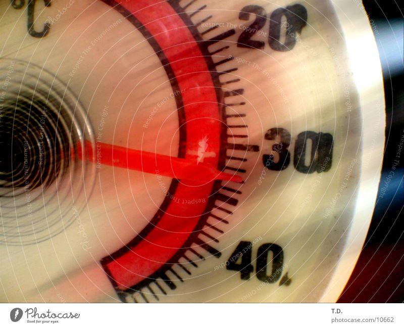 Im Schatten (?) Wärme Physik Dinge Grad Celsius transpirieren Thermometer