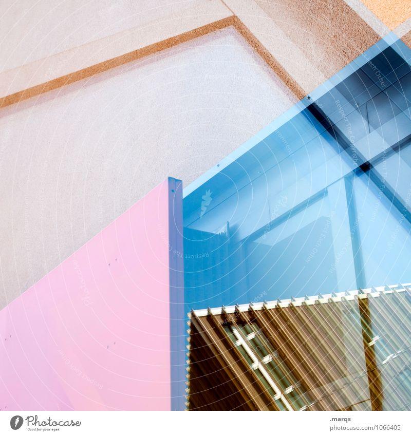 Eckhaus Haus Architektur Stil Gebäude außergewöhnlich Fassade Design Linie Häusliches Leben Metall modern Glas verrückt Perspektive Zukunft einzigartig