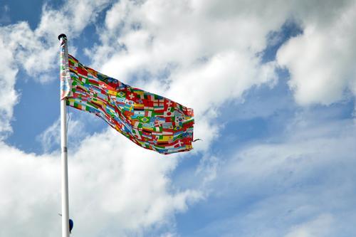 International Himmel Ferien & Urlaub & Reisen Wolken Freiheit außergewöhnlich Tourismus Wind Schönes Wetter Bildung Fahne Gesellschaft (Soziologie)