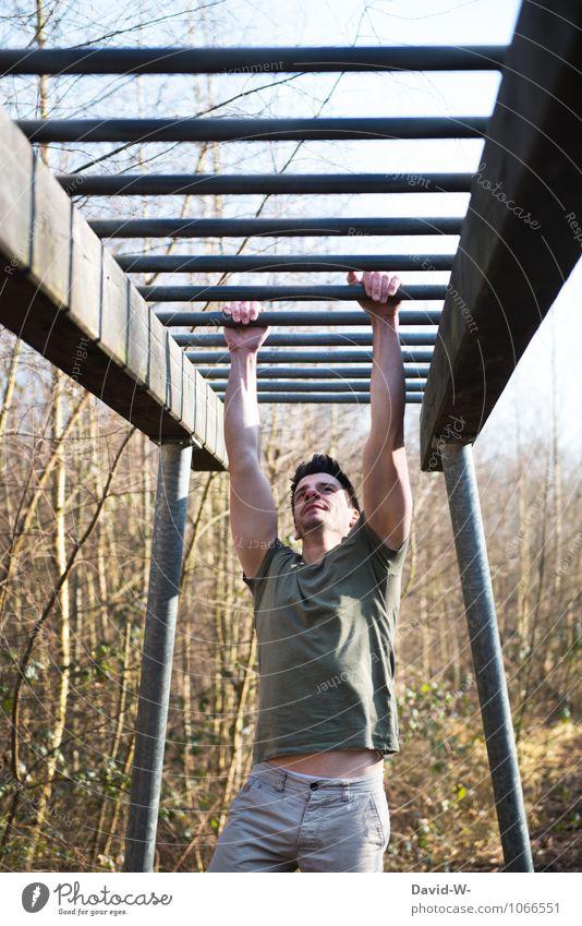 Kraft | Weg & Ziel Mensch Jugendliche Mann Sommer Erotik Junger Mann 18-30 Jahre Erwachsene Sport Gesundheit maskulin elegant Fitness sportlich stark