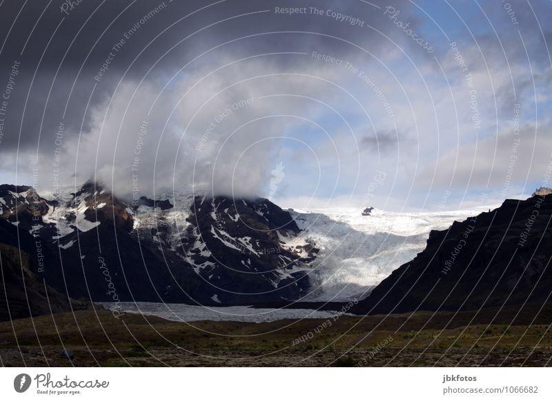 Bild ohne Hüttengaudi Umwelt Natur Landschaft Urelemente Wasser Sommer Klima schlechtes Wetter Unwetter Nebel Eis Frost Schnee Gras Hügel Felsen
