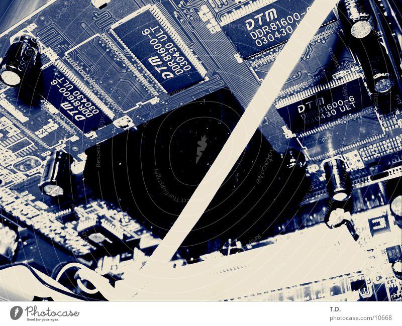 Platine Computer Technik & Technologie Grafik u. Illustration Mikrochip Hardware Elektrisches Gerät Leiterbahn Kondensator