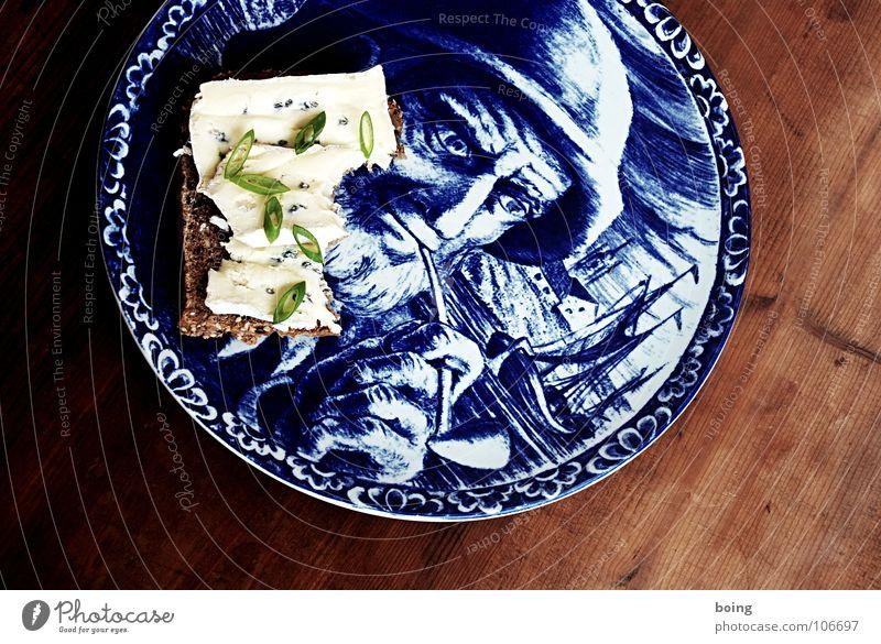 Foodwatch I Ernährung lecker Teller Brot Abendessen Käse beißen Belegtes Brot Seemann Himmelskörper & Weltall Trillerpfeife Käsebrot Frühlingszwiebel