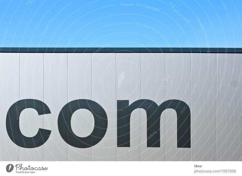 dot com Himmel blau Landschaft Haus Wand Architektur Gebäude Mauer hell Arbeit & Erwerbstätigkeit träumen Wachstum modern Erfolg Perspektive groß