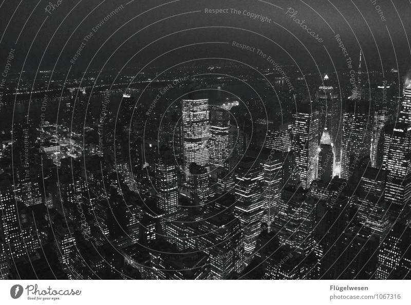 Schwarz/Weiße Nacht in New York Ferien & Urlaub & Reisen Tourismus Ausflug Abenteuer Ferne Freiheit Sightseeing Städtereise Sonnenaufgang Sonnenuntergang Stadt