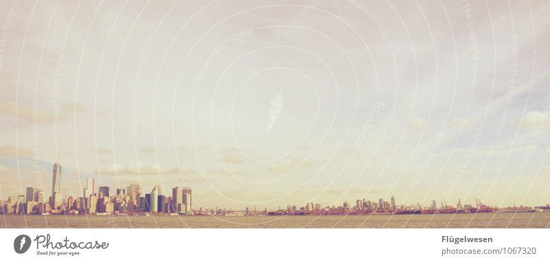 New Jersey New York Skyline Ferien & Urlaub & Reisen Tourismus Ausflug Abenteuer Ferne Freiheit Sightseeing Städtereise überbevölkert Hochhaus Bauwerk Gebäude