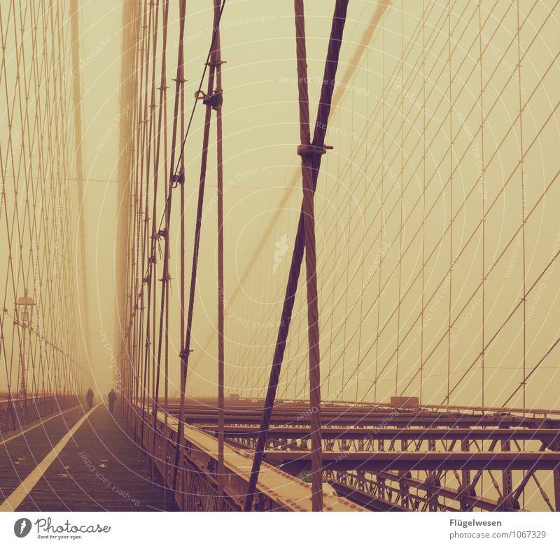 Broglin Bridsch Ferien & Urlaub & Reisen Tourismus Nebel laufen Ausflug Brücke Abenteuer Laufsport Brückengeländer Amerika Sightseeing Stars and Stripes