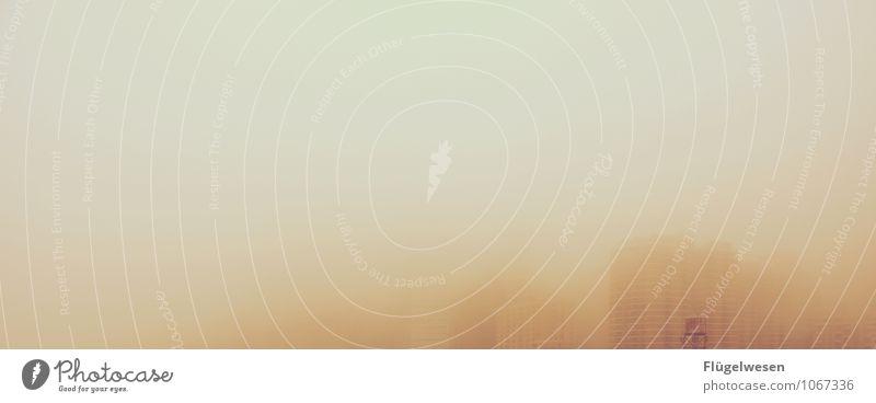 Manhattan im Schleier Ferien & Urlaub & Reisen Ferne Architektur Gebäude Freiheit träumen Tourismus Nebel Wind Hochhaus Ausflug Brücke Skyline Unwetter
