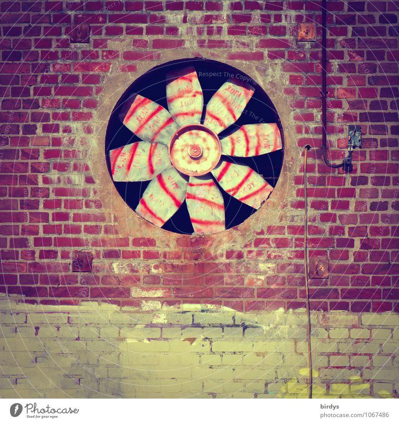 Grafilator Stadt alt Graffiti Senior Fassade Design ästhetisch groß Kreis Industrie retro Kultur rund Wandel & Veränderung Vergangenheit Industriefotografie
