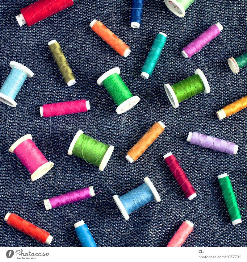 garn Handarbeit Mode Stoff Nähgarn Fröhlichkeit einzigartig mehrfarbig ästhetisch Design Farbe Freizeit & Hobby Inspiration Kreativität Nähen Farbfoto