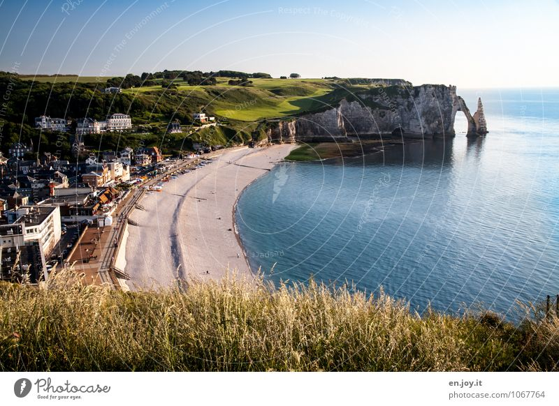 Golf spielen müsste man können Natur Ferien & Urlaub & Reisen blau grün Sommer Meer Landschaft Strand Ferne Wiese Küste hell Felsen Horizont Tourismus Ausflug