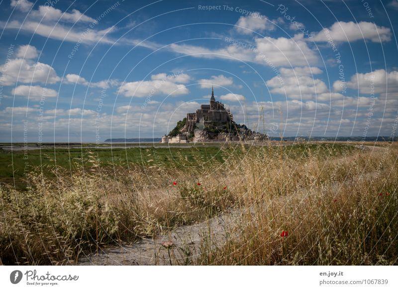 Der Weg ist das Ziel Ferien & Urlaub & Reisen Tourismus Ausflug Sommerurlaub Insel Natur Landschaft Wolken Horizont Schönes Wetter Gras Wiese Hügel