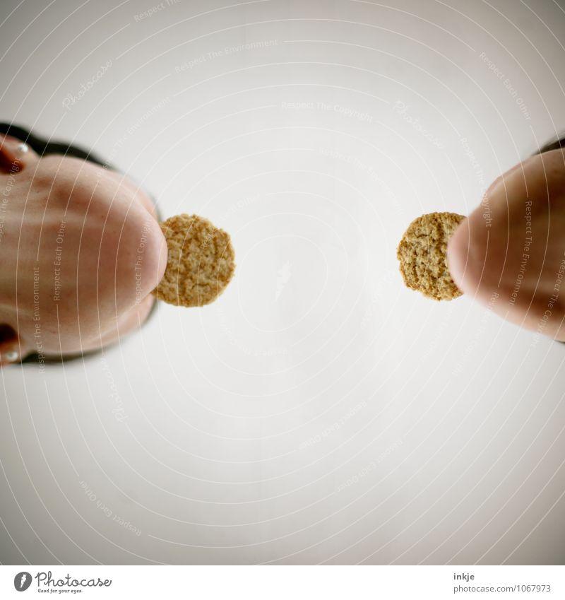 doppelt gemoppelt Teigwaren Backwaren Keks Ernährung Essen Fingerfood Lifestyle Freizeit & Hobby Mensch Frau Erwachsene Freundschaft Paar Leben Gesicht Kinn 2
