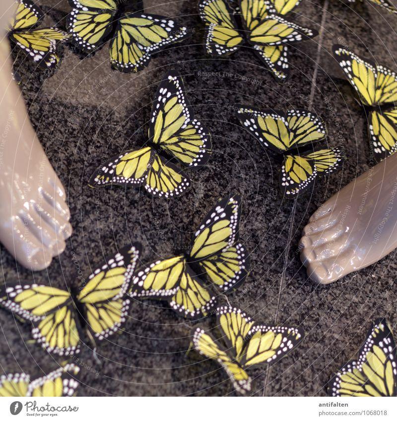 Frühlingsgefühle :-) schön Sommer Freude gelb Stil grau Stein Fuß Mode Lifestyle Design Dekoration & Verzierung elegant Tourismus Fröhlichkeit